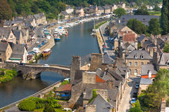 Dinan, Brittany, France - Ancient town on the river Royalty Free Stock Photography