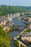 Dinan, Brittany, France - Ancient town on the river Royalty Free Stock Photos