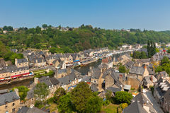 Dinan, Brittany, France - Ancient town on the river Stock Photography