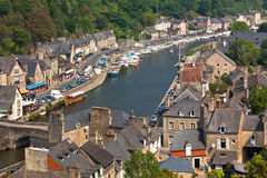 Dinan, Brittany, France - Ancient town on the river Stock Photo