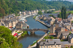 Dinan, Brittany, France - Ancient town on the river Stock Image