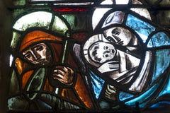 Dinan, gebrandschilderd glas Stock Afbeeldingen