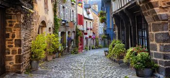 Free Dinan, Medieval Town Center, Brittany, France Royalty Free Stock Image - 147277846