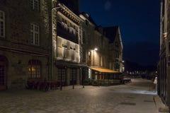 Dinan at Night, Brittany, France Stock Image
