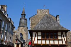 Dinan old architecture Stock Photos