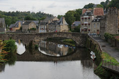 Dinan Old Port Lizenzfreie Stockbilder