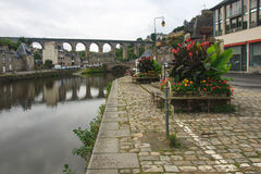 Dinan Old Port Fotografia Stock