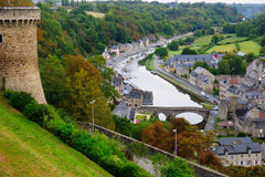 Dinan Old Port. The old port area, Dinan, Brittany, France Stock Photography
