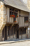 Dinan old town center Royalty Free Stock Photos