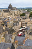 Dinan old town panoramic viev Royalty Free Stock Photos