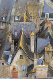 Dinan old town roof tops, Brittany Royalty Free Stock Photography