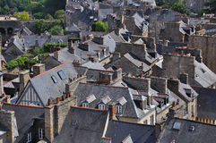 Upon the dinan roofs. The characteristic roofs of the old part of dinan(britanny stock photos