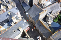 Dinan's old quarter. A view from the top of the roofs of dinan(britanny stock photos