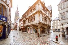 Dinan street view Royalty Free Stock Image