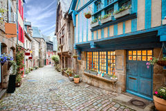 Dinan town in France Royalty Free Stock Photo