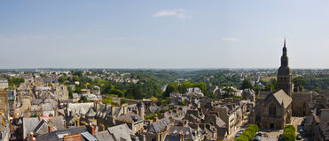 Dinan town panorama Royalty Free Stock Image