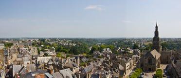 Dinan town panorama Royalty Free Stock Image