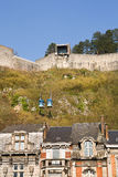 Dinant城堡的缆车 库存照片