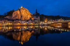Dinant τή νύχτα Στοκ εικόνες με δικαίωμα ελεύθερης χρήσης