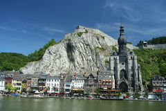 Dinant. View on the town of Dinant, Belgium Royalty Free Stock Images