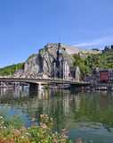 Dinant,Ardennes. Dinant on the River Meuse in the Ardennes,Belgium stock image