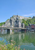 Dinant in the belgiam Ardennes Royalty Free Stock Photography