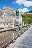 Dinant in the Belgium Ardennes. On River Meuse royalty free stock image