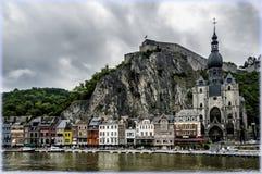 Dinant, Belgium in rainy weather Stock Image