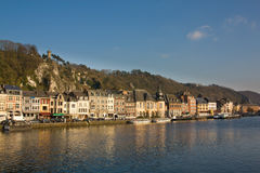 Dinant - charming town on the Meuse river Royalty Free Stock Photos