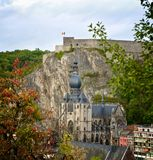 Dinant Citadel in Autumn Royalty Free Stock Image