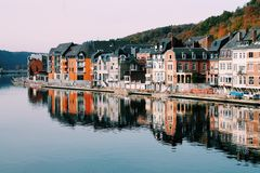 Dinant city and Meuse river