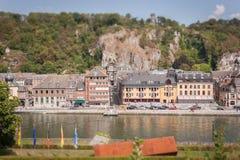 Dinant e o rio Meuse foto de stock royalty free