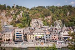 Dinant e o rio Meuse fotos de stock