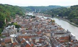 Dinant ed il fiume Meuse, Belgio Fotografia Stock