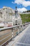 Dinant i Belgien Ardennes royaltyfri bild