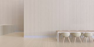 Dinant l'affichage minimal et la texture en bois de mur - de luxe et moderne Photos stock