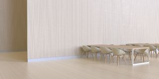 Dinant la barre minimale et la texture en bois de mur - luxe et café modernes Photo libre de droits