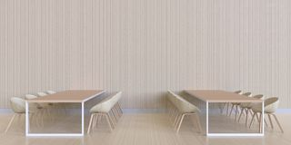 Dinant la texture minimale et en bois de barre - affichage et moderne de luxe Photo libre de droits