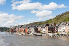 Dinant na Bélgica Ardennes no rio Meuse fotografia de stock royalty free