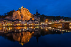 Dinant by Night Royalty Free Stock Images