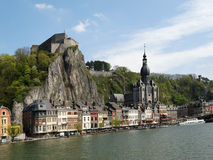 Dinant. A walled city in Belgium Stock Photography
