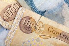 Dinar de Iraq Imagen de archivo libre de regalías
