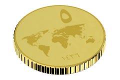 Dinar del oro de ISIS stock de ilustración