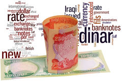 Dinar of iraq Royalty Free Stock Images
