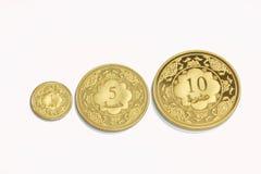Dinar islâmico do ouro fotografia de stock royalty free
