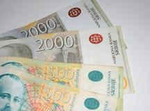 Dinar servio Bill de quinientos dinares, retrato de Jovan Cv Fotos de archivo