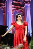 Dinara Aliyeva singer. Classical music concert in Moscow conserv. MOSCOW - JANUARY 21: Dinara Aliyeva singer plays concert in Conservatory Big Concert Hall on Stock Photos