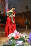 Dinara Aliyeva singer. Classical music concert in Moscow conserv Royalty Free Stock Photography