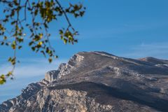 Dinara mountain. Highest in Croatia. This is view from Cetina river valley Stock Photo