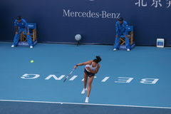 Dinara Safina on the China Open. On October 4th, Dinara Safina beat Italian player Roberta Vinci Stock Photo